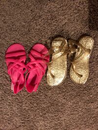 Girls jellies (gold size 13 and pink size 11) $5 each  Laredo, 78045