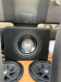 300 watt 10 inch sub amp built in works perfect just don't need it anymore if you want I can hook it up for you to hear before you buy it