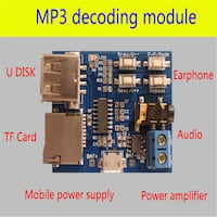 MP3 Format Player using USB or SD card