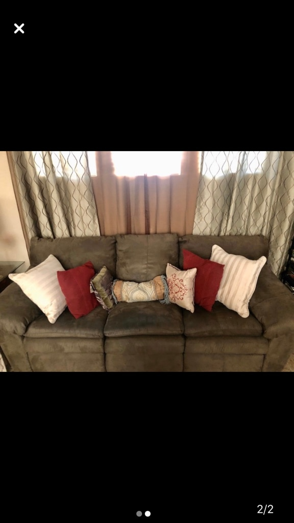 Photo Green Sleeper Sofa. SERIOUS inquiries only....Please!...