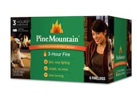 Pine Mountain, 3-Hour Firelogs, 6-Pack Fire Logs  Ideal for Campfires or Home Use