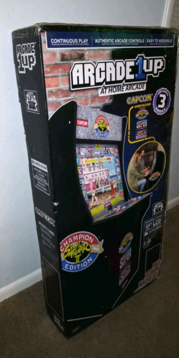 Arcade1up Street Fighter Edition 3 games