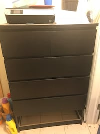 black wooden 5-drawer tallboy dresser Halifax, B3H 3J2