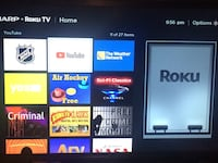 32 inch smart roku tv comes with everything  Aurora, L4G 6Y7