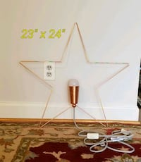 Star shape wall hanging lamp Annandale, 22003