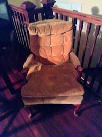 brown wooden glider chair with ottoman Washington, 20052