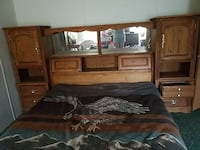 brown wooden Queen Headboard. (Bed not included) Bay Minette, 36507