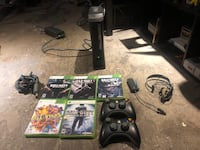 Xbox 360 120 HDD Elite Console & Game Lot