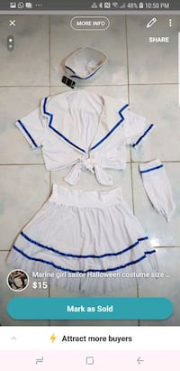 Marine girl sailor costume size medium  Toronto, M9M 1B7