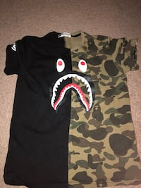 Black and brown a bathing ape t-shirt Irvine, 92602