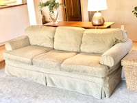 Slipcover Couch / Sofa, Chair and Ottoman Set