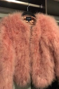 Lamarque real feather coat