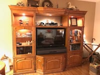 flat screen TV and brown wooden TV hutch New Windsor, 21776