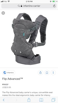 Baby's gray carrier infantino  Surrey, V3T 0C5