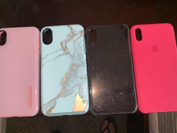 official photos e8b31 3255c iPhone XS Max cases. Light pink one is Incipo, blue one is Otterbox, black  sparkly is just a cheap one I bought off amazon, and hot pink is Apple ...