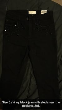 size 5 studded black fitted jeans Thunder Bay, P7C