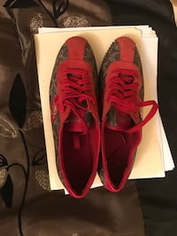 Red and gold coach shoes Size:9