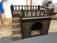Brown wooden bed frame with storage Moreno Valley, 92557