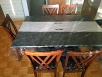 black and brown wooden dining table set Montréal, H8Y