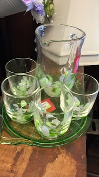 clear glass pitcher with drinking glasses Mississauga, L4X 1L9