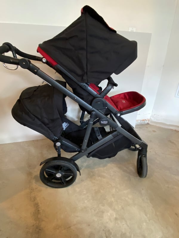Britax Double Stroller - Red/Black 0