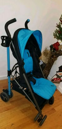 Zobo Aqua Blue Stroller w/Weather Shield, max 45lb 206 mi
