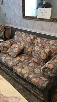 brown and green floral fabric 3-seat sofa Royse City, 75189