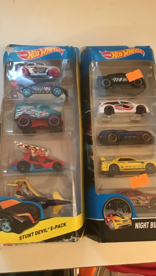 two Hot Wheels toy car boxes
