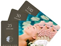 Way Spa Canada wide $300 in gc Westbank, V4T 3C5