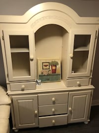 white wooden cabinet with hutch Vaughan, L4L 1H9