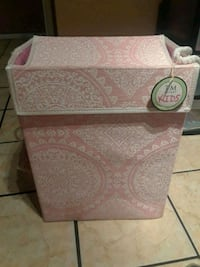 white and pink floral ceramic container El Paso, 79924
