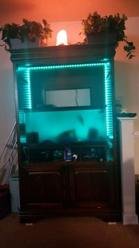 Entertainment Center with Fish Tank