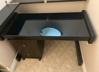 Midnight Black Computer Desk wth Glass Top - open to offers