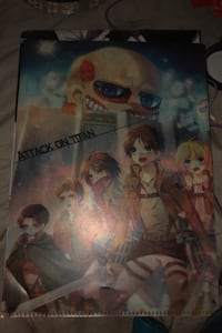 Attack on titan anime collectable school/office/art portfolio