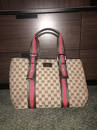 brown and red Gucci leather tote bag Ottawa, K1E 3T5
