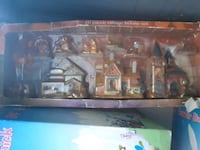 brown wooden framed painting of house 2230 mi