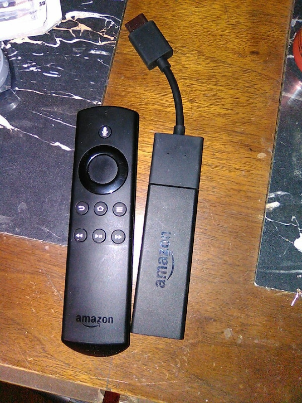 black Amazon Fire TV stick