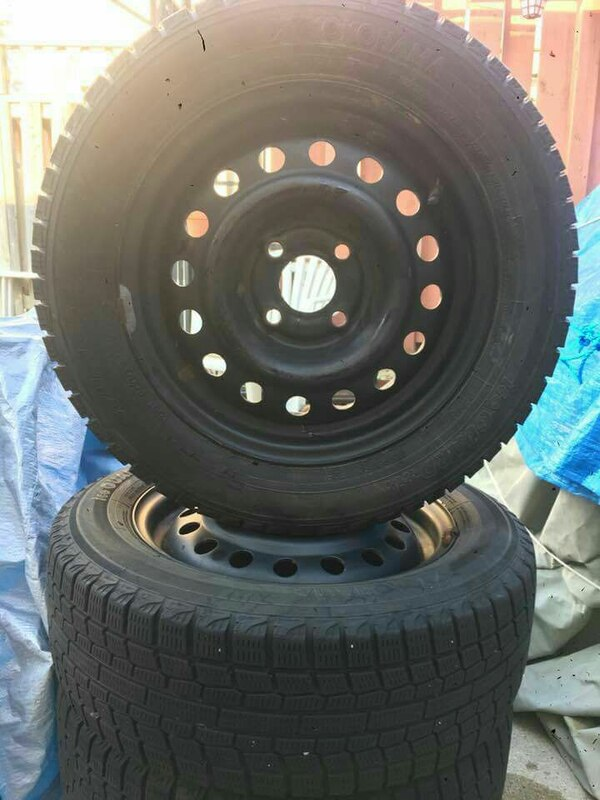 Set of winter tires for Chevy aveo  [PHONE NUMBER