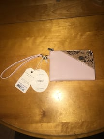 Perfect Christmas gift!! Pixie mood Blush rose pink/cork clutch/wallet