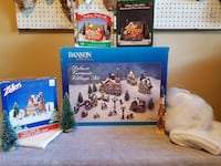 Complete Christmas Village/additional houses/trees/angel hair Port Coquitlam, V3B 2L2