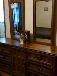brown wooden dresser with mirror Athens, 30607