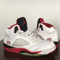 retro white-black-red air jordan 5 Boca Raton, 33428
