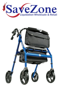 New- Hugo Elite Rollator Rolling Walker with Seat, Backrest And Saddle Bag, Blue Mississauga
