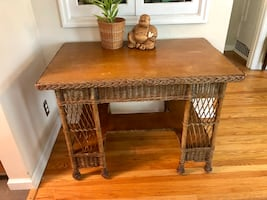 1920's wicker 'game' table