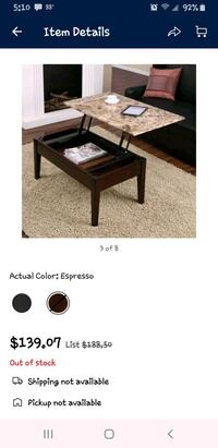Faux Marble Lift Top Coffee Table  Lewisville, 75067