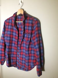 blue and red plaid sport shirt Laval, H7R 4T4