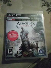 PS3 Assassin's Creed 3 game case Gloversville, 12078