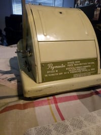 Paymaster ribbion writer 8000 with cover key and Manuel works Montréal