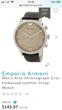 Empario armani mens watches - if the ad is up, available!