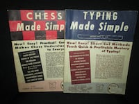 1950's INSTRUCTIONAL BOOKS  Amazing condition.  1959: CHESS MADE SIMPLE (c.1957)  1960: TYPING MADE SIMPLE (c.1957)  $15 each or BOTH for only $25.  Pick up in Edmonton, near the Kingsway area No holds No delivery https://www.facebook.com/photo.php?fbid= EDMONTON